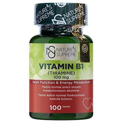 Nature's Supreme Vitamin B1 100 Mg 100 Kapsül