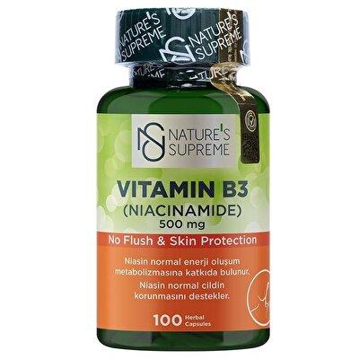 Nature's Supreme Vitamin B3 500 Mg (No Flush) 100 Kapsül