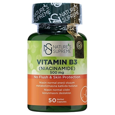 Nature's Supreme Vitamin B3 500 Mg (No Flush) 50 Kapsül