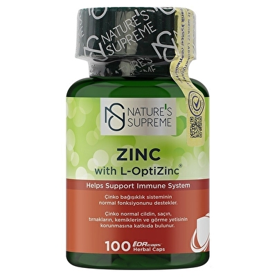 Nature's Supreme Zinc 15 Mg 100 Kapsül