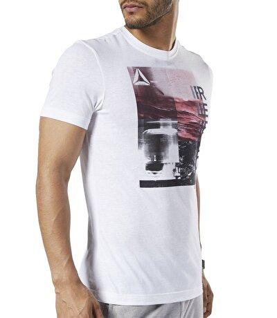 Reebok One Series Training Photo Print Erkek T-Shirt Beyaz