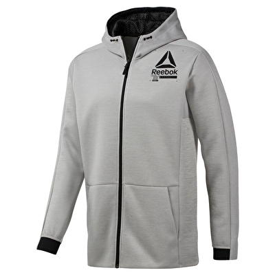 Reebok Training Spacer Full-zip Hoodie - Gri