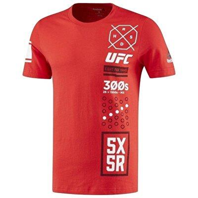 Reebok Ufc Fg 5x5R Tee T-Shirt - Kırmızı
