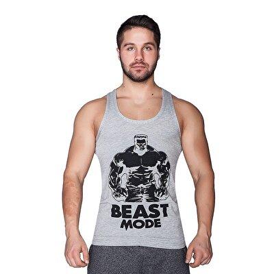 Supplementler.com Beast Mode HLK Tank Top Açık Gri