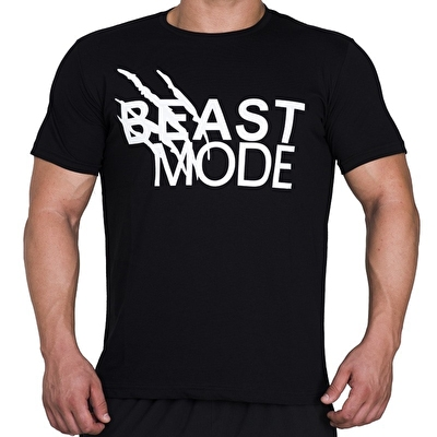 Supplementler.com Beast Mode T-Shirt Siyah
