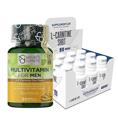 Supplementler.com L-Carnitine Shot + Nature's Supreme Multivitamin For Men Kombinasyonu