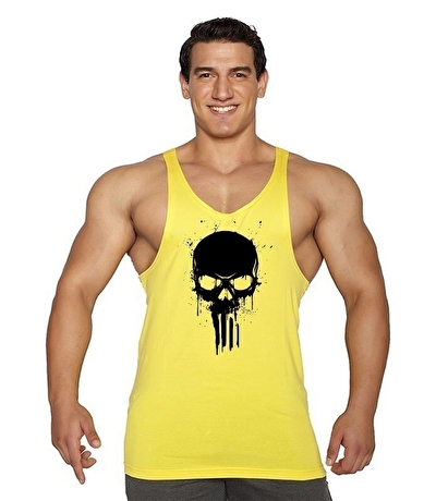 Supplementler.com Skull Fitness Atleti Sarı