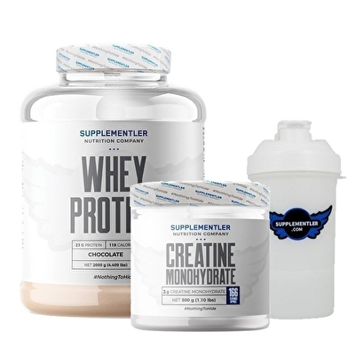 Supplementler.com Whey Protein 2000 Gr + Creatine 500 Gr Kombinasyonu