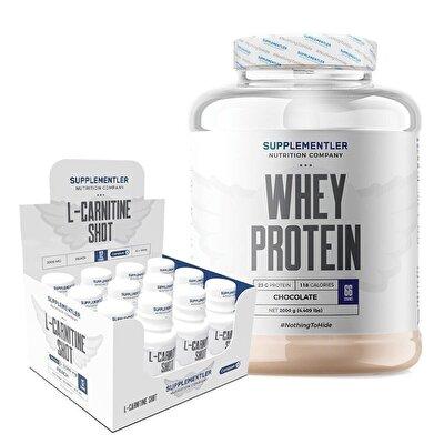 Supplementler.com Whey Protein 2000 Gr +L-Carnitine Shot 12 Adet Kombinasyonu