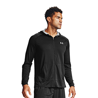 Under Armour Tech 2.0 Fermuarlı Kapüşonlu Sweatshirt Siyah