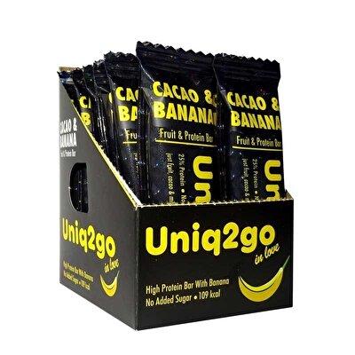 Uniq2go In Love Kakaolu ve Muzlu Protein Bar 32 Gr 12 Adet