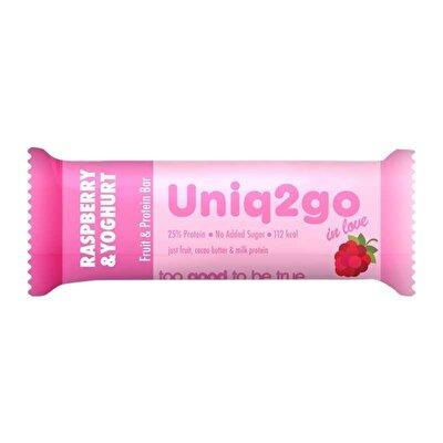 Uniq2go In Love Yoğurt Aromalı ve Ahududulu Protein Bar 32 Gr