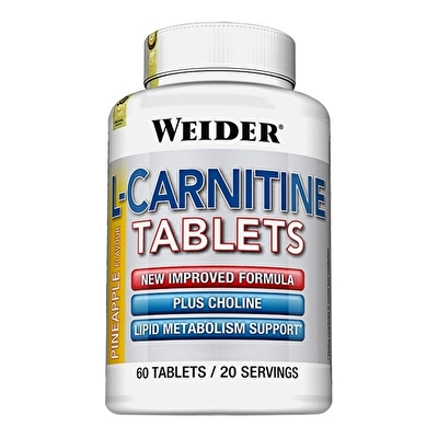 Weider L-Carnitine Tablets 300mg 60 Tablet