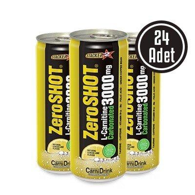 Zero Shot 250 mL 3000 Mg L-Carnitine Carbonated 24 Adet
